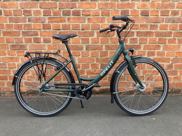 OPELIT Citybike Mainhatten low kristallgrün